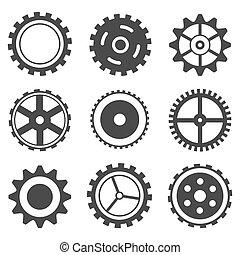 Una rueda de engranaje