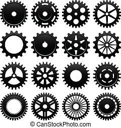 Una rueda de engranajes