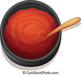 Una salsa roja