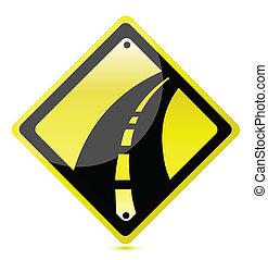Una señal amarilla