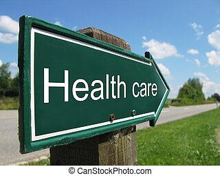 Una señal de asistencia sanitaria