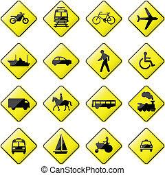 Una señal de transporte