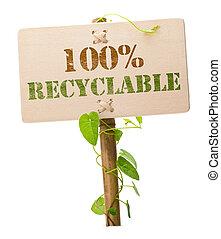 Una señal verde ecológica