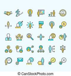 Una serie de íconos de color