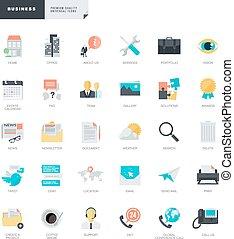 Una serie de íconos de diseño plano