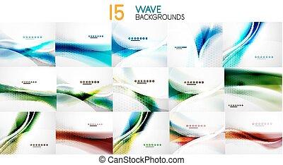 Una serie de antecedentes de negocios abstractos de onda