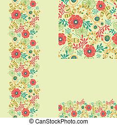 Una serie de flores primaverales, sin manchas y antecedentes