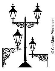Una serie de lámparas antiguas