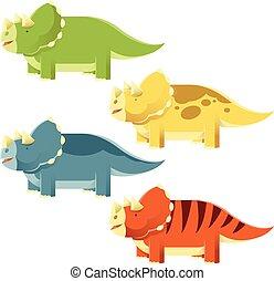 Una serie de triceratops