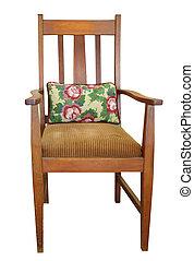 Una silla antipática con almohadón