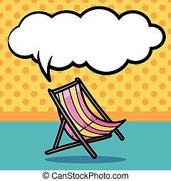Una silla de cubierta color garabato