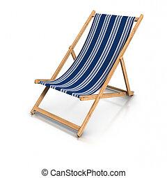 Una silla de cubierta