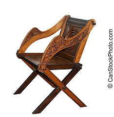 Una silla de madera antigua