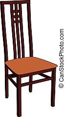 Una silla de madera.