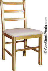 Una silla de madera