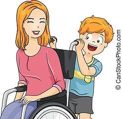 Una silla de ruedas para niños