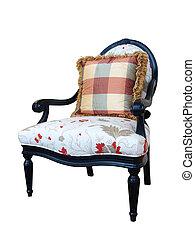 Una silla elegante aislada