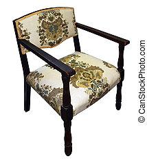 Una silla floral antigua