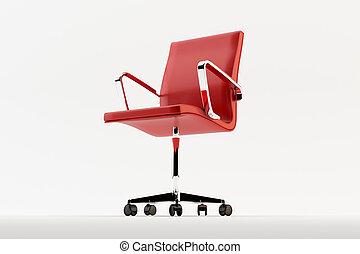 Una silla roja