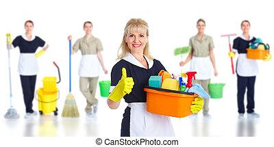 Una sirvienta más limpia.