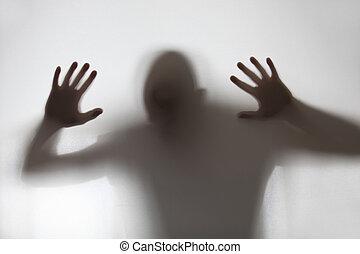 Una sombra humana