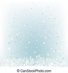 Una suave luz azul de nieve