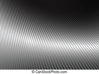 Una superficie plateada reflejada
