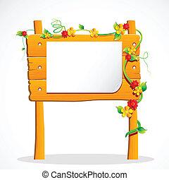 Una tabla de anuncios de madera