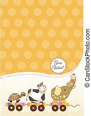 Una tarjeta de bebé