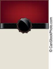 Una tarjeta de colección roja abstracta