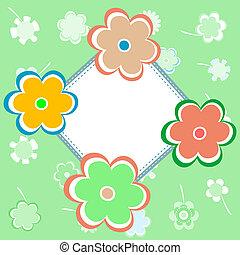 Una tarjeta de felicitación con flores