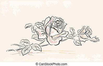 Una tarjeta de felicitación con rosa