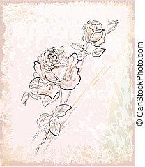 Una tarjeta de felicitación con rosas