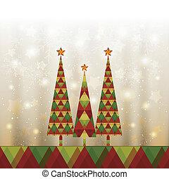 Una tarjeta de felicitación de árbol de Navidad