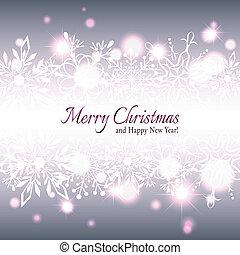 Una tarjeta de felicitación de Copo de Nieve de Navidad