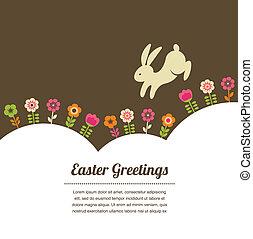 Una tarjeta de felicitación de estilo de Pascua