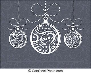 Una tarjeta de felicitación de Navidad