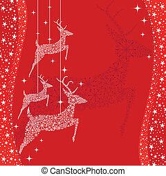 Una tarjeta de felicitación de venados rojos
