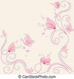 Una tarjeta de felicitación floral