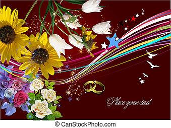 Una tarjeta de felicitación. Ilustración del vector. Tarjeta de invitación