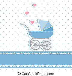Una tarjeta de invitación para el bebé nuevo