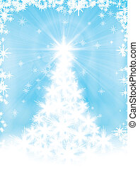 Una tarjeta de Navidad azul claro