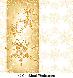 Una tarjeta de Navidad brillante