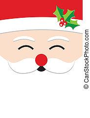 Una tarjeta de Navidad de Santa Claus