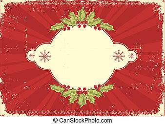 Una tarjeta de Navidad para el texto