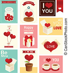 Una tarjeta de San Valentín/boda
