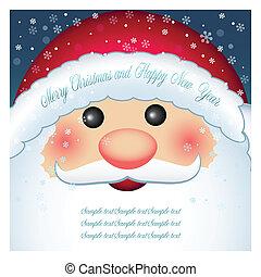 Una tarjeta de Santa Claus