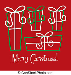 Una tarjeta navideña en formato vector.