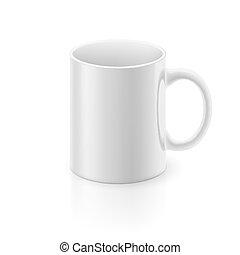 Una taza blanca