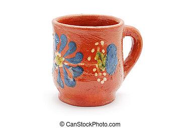 Una taza de arcilla